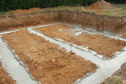 le terrassement et les fondations bati info l 39 expert habitat. Black Bedroom Furniture Sets. Home Design Ideas